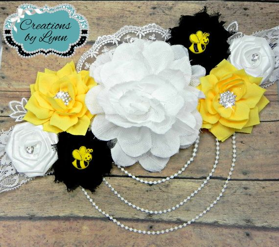 What will it Bee Maternity Belly Sash by CreationbyLynn on Etsy