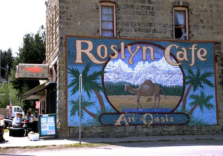 Roslyn, WA - where the TV show Northern Exposure was filmed. We use to drive through town for an annual camp-out along the river...and have a few brews at the Brick.