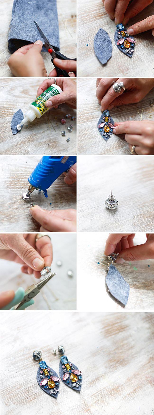 15 Wonderful DIY Statement Earrings You Need To See