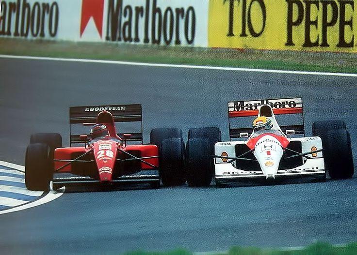 Jean Alesi & Ayrton Senna, Barcelona 1991.