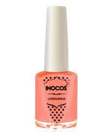 Verniz de Luxo - Verniz Inocos A Pipoca Mais Doce Inhos Pastel e Txarans Fluorescentes - Laranjinha 9ml
