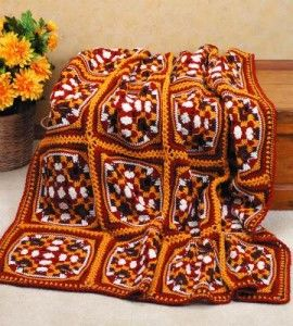 Autumn Crocheted Afghan By Rosalie DeVries - Free Crochet Pattern - (countrywomanmagazine)