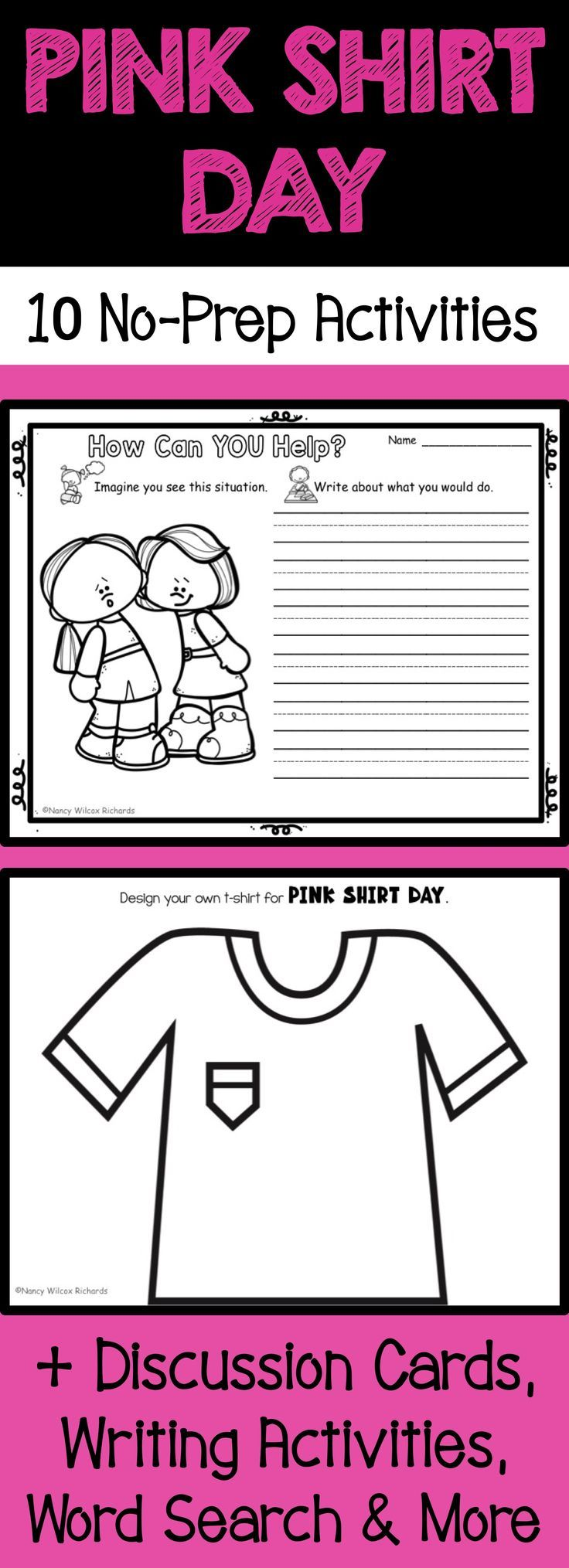 These Pink Shirt Day Activities And Anti Bullying Activities For Kids Are Fun No P Bullying Activities Anti Bullying Activities Bullying Activities Elementary