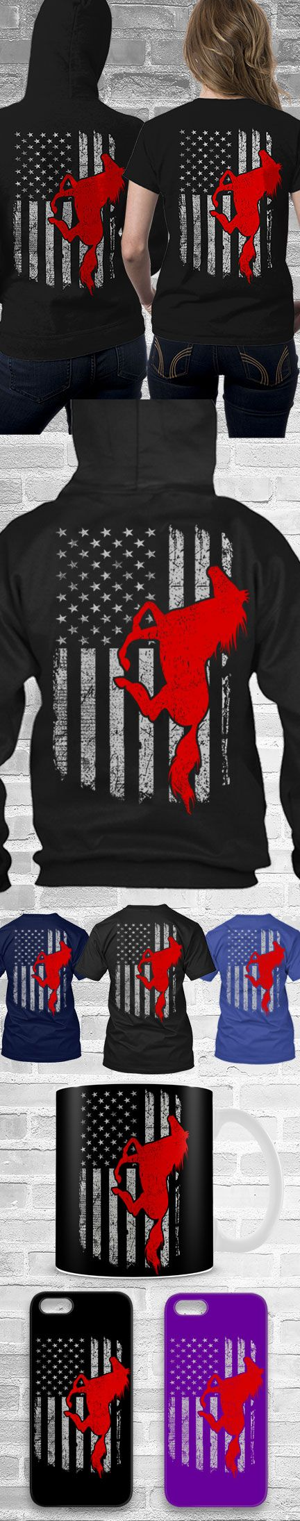 Horse USA Flag Shirts! Click The Image To Buy It Now or Tag Someone You Want To Buy This For.  #horseriding