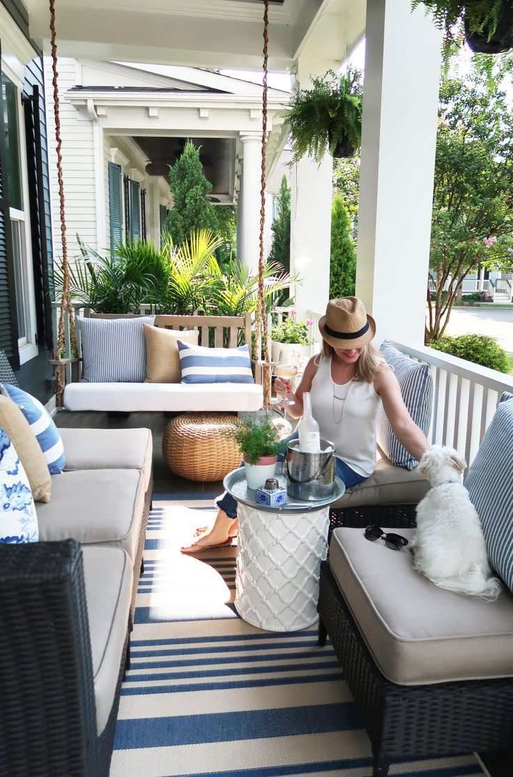 Capturing Coastal On The Front Porch Makeover