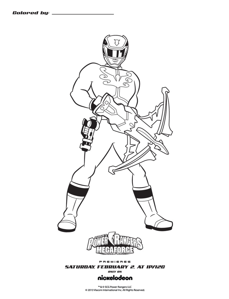 Coloring pages power rangers megaforce