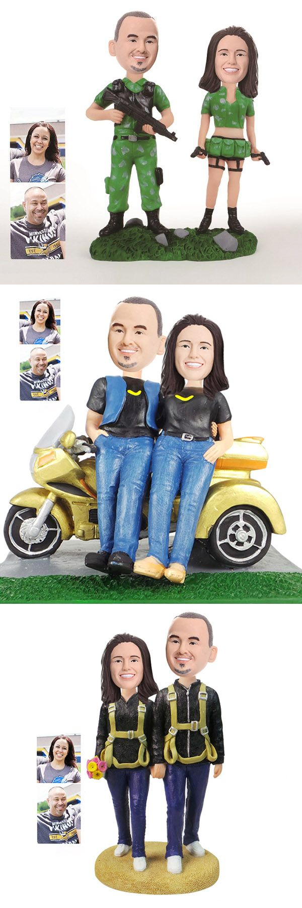 casual and sport wedding cake toppers and wedding gifts