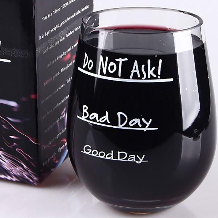 Screw It Funny Stemless Wine Glass Wife Christmas Present