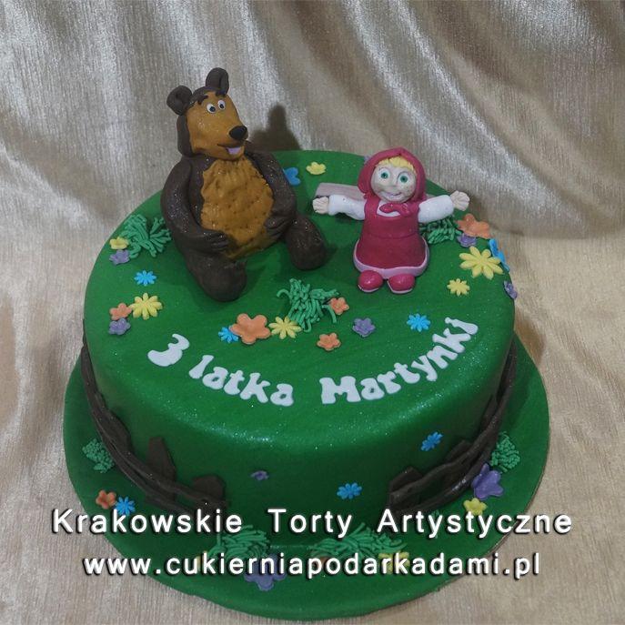 190. Tort Masza i Niedźwiedź. Masha and the Bear cake.