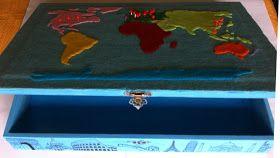 Coisinhas da Flafy: Caixa - Mapa Mundi