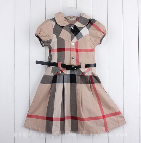 FREE SHIPPING Burberry Plaid Girsl Dress with Belt sizes: 5-15 years | EmeseBoutique - Children's on ArtFire