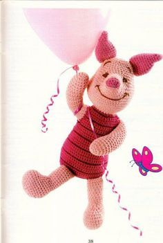Amigurumi Piglet - FREE Crochet Pattern / Tutorial in ENGLISH (click on right arrow to get to pattern)