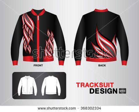 black tracksuit design jacket vector illustration sport t-shirt Leather Jacket uniform design clothes vector design fashion design fire vector