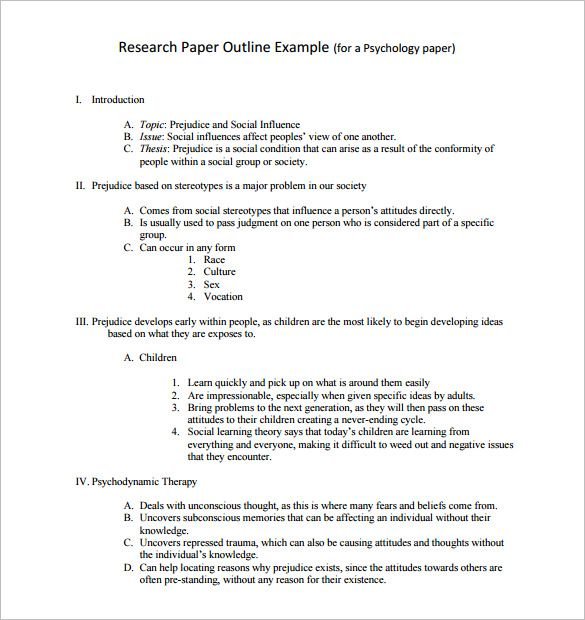 8  research outline templates