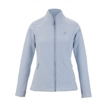 K-Way's Guinevere is a full-zip medium-weight women's fleece made from polyester microfibre with a double-sided anti-pill finish. A durable water repellency-coating keeps you dry in wet weather; four-needle flatlock stitching reduces bulky seams for added comfort; and mesh pocket bags provide added vapour permeability.