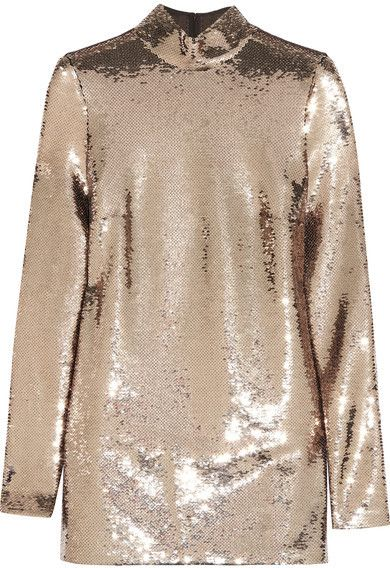 SHOP | Sequined Chiffon Tunic