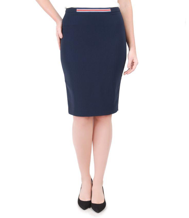 Office skirt, for everyday at the office Spring17 | YOKKO #skirt #blue #stripes #office #work #women #fashion #beauty #style #yokko