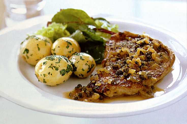 Veal Schnitzels With Drambuie & Green Peppercorn Sauce Recipe - Taste.com.au