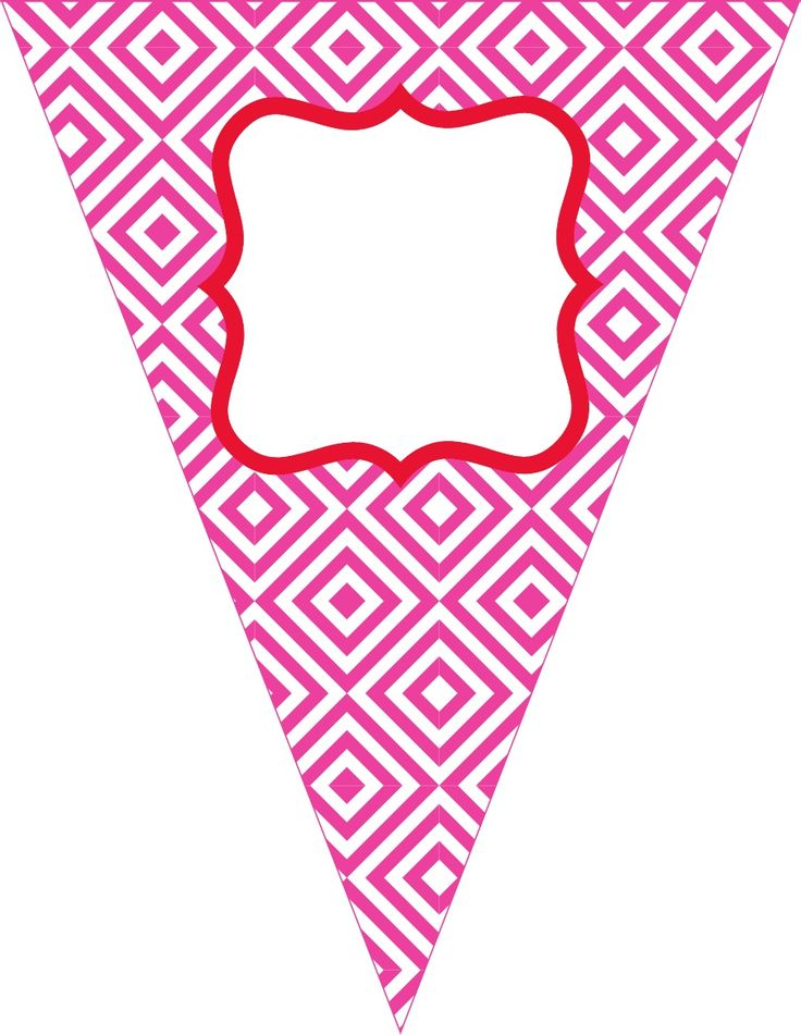 Free Contemporary Happy Birthday Pennant Banner | Banner ...