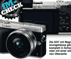 Panasonic Lumix GX7 mirrorless camera leaks with tilting viewfinder and retro style