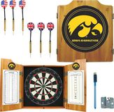 Trademark Games - Iowa Solid Pine Dart Cabinet Set - Brown, IA7000