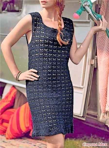 Это ажурное платье цвета морской волны классического силуэта связанно очень красивым узором. Оно вяжется просто смотрится очень элегантно. Размеры S (M, L, XL)  МАТЕРИАЛЫ