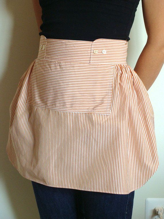 Apron from man shirt
