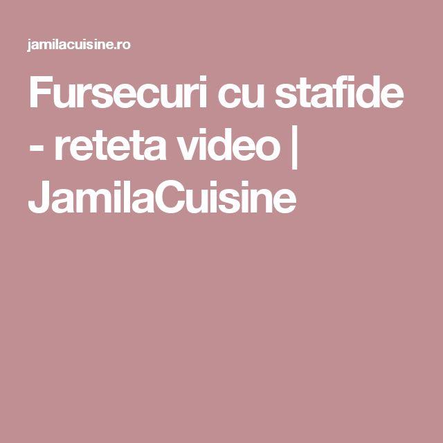Fursecuri cu stafide - reteta video   JamilaCuisine