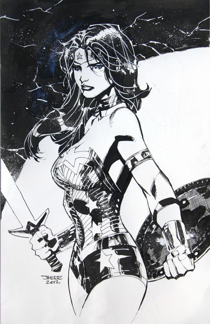 Wonder Woman Sketch by Jim Lee