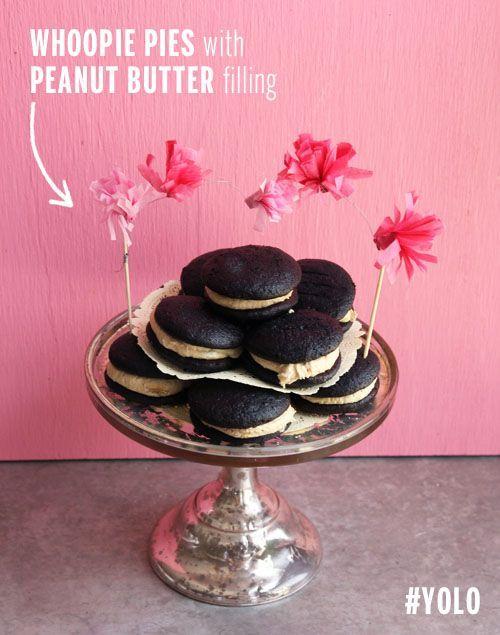 Chocolate Peanut Butter Whoopie Pies | Take a Megabite | Bloglovin'