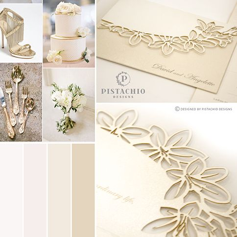 Cream Lily laser cut design wedding invitation made by www.pistachiodesigns.co.za
