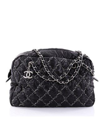 e63f732d77c5 CHANEL PRE-OWNED  TWEED ON STITCH CAMERA CASE BAG QUILTED NYLON MEDIUM.   chanel  bags  nylon