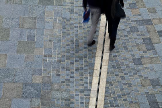 cool paving pattern and rill - Pier Head Public Realm | Liverpool UK | AECOM