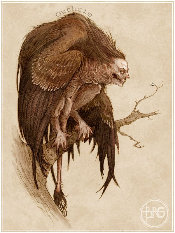 #Mythological Creature - The Harpy by GuthrieArtwork