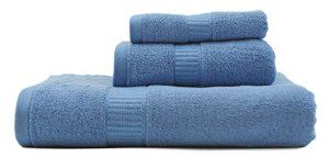 Ameribamboo High Quality Bamboo Towel Set, Light Blue, 1 Bath Towel, 1 Hand Towel, 1 Face Towel, Free from Bacteria, Fungi, Mildew - Visit to see more options
