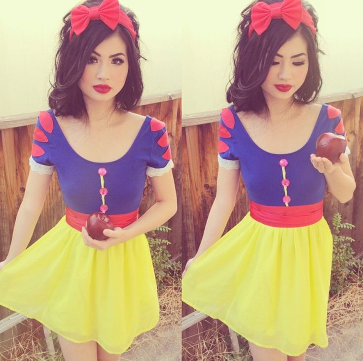 Snow White Cosplay Halloween Costume DIY Hair, Makeup, & Costume www.instagram.com/kimberlyx3you