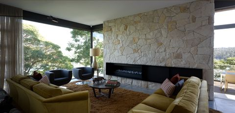 Stunning sandstone feature wall