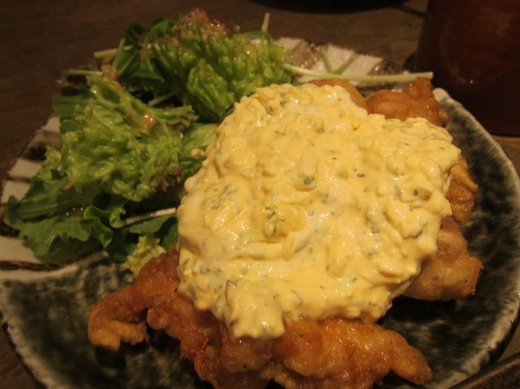 Fried chicken with egg mayo sauce at Tsukada nojo - chicken nanban