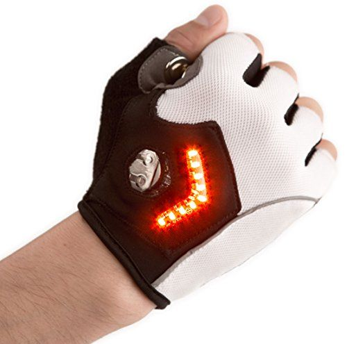 The Zackees Turn Signal Gloves are another device in the wearable bicycle technology category that will help bicyclers bike on the streets with added safety. The turn signal gloves let you signal to d...