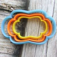 """Cookie cutter """"The plate №42"""" Set of 7, 9 and 11 cm"""