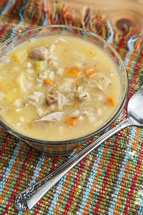Soupe rustique dinde et orge #recettesduqc #soupe #dinde