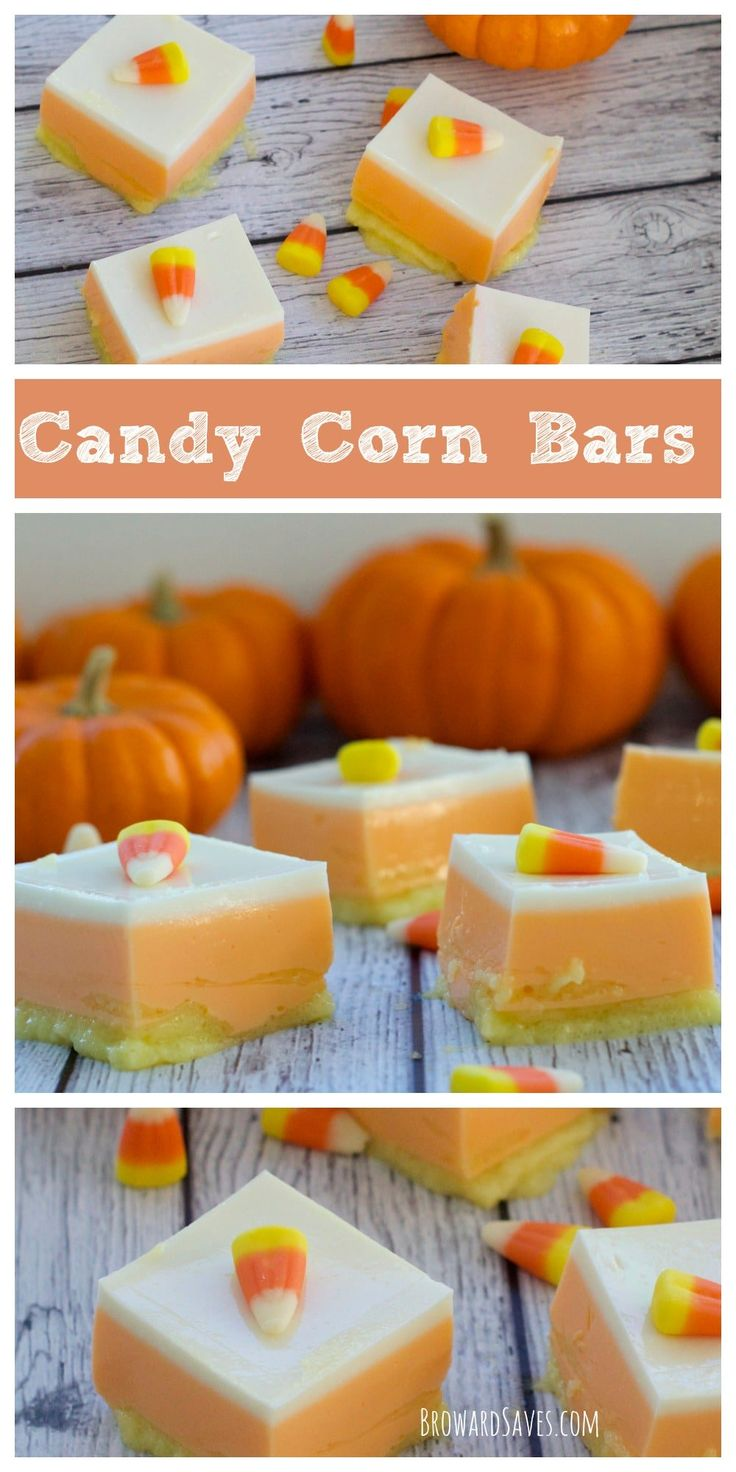 These healthy Candy Corn Bars are made with Yogurt and Jell-O. Both fat and sugar-free. They are delicious, easy to make and kids love it. More Halloween recipes at livingsweetmoments.com  via @Livingsmoments