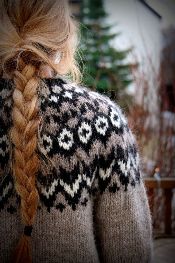 Icelandic Sweater Lopapeysa Handmade 100 % pure by pureIceland