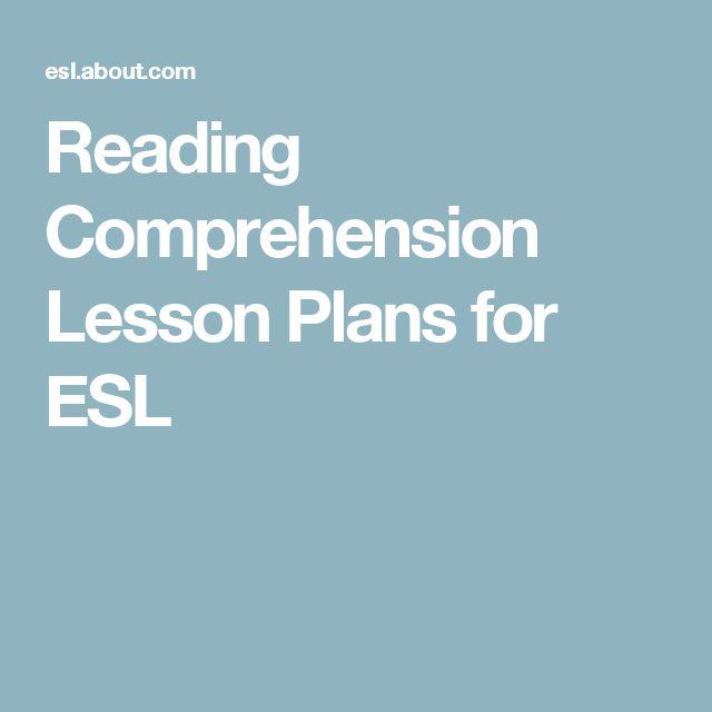 Reading Comprehension Lesson Plans for ESL