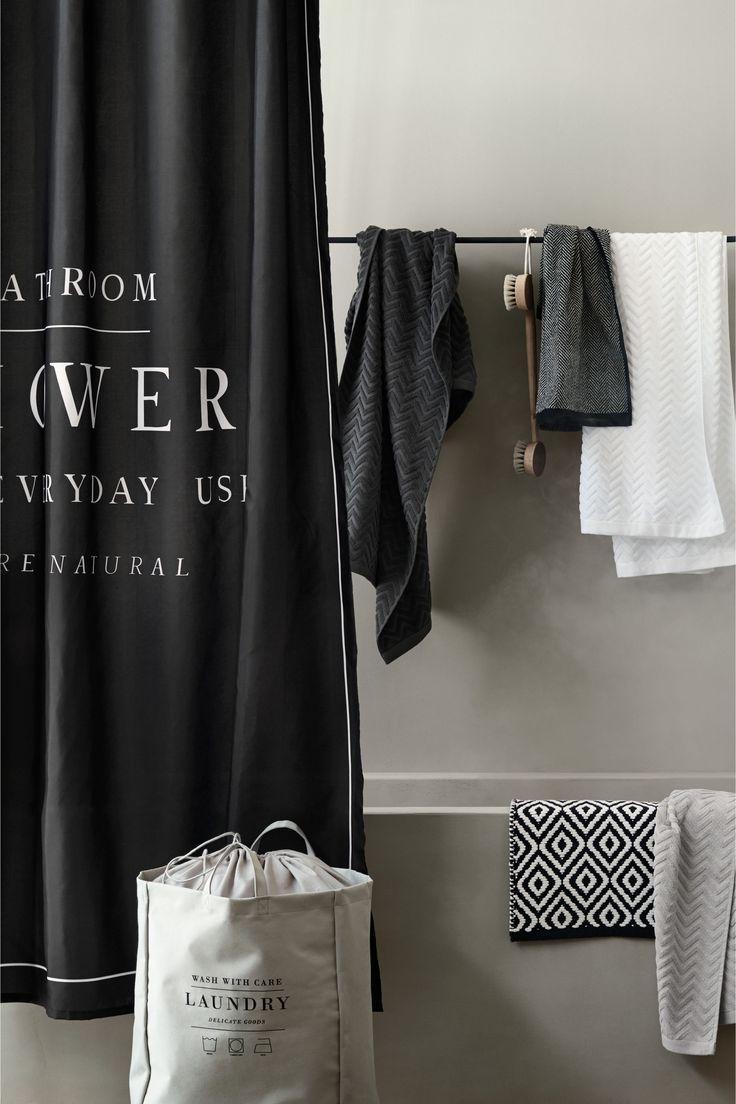 Rideau de douche - Noir - Home All | H&M FR 1