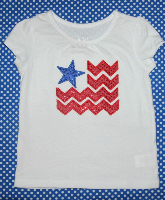 American sequin flag applique shirt by BoutiqfullyYours on Etsy