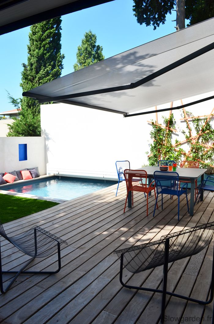 by Slowgarden / Inspiration deco outdoor : Une mini piscine pour ma terrasse. Small pool. Terrace pool. terrasse design marseillle