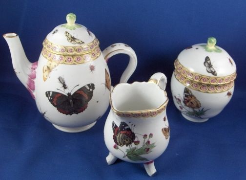 Rare 18thC Frankenthal Porcelain Butterfly Scenes Solitaire Porzellan Service  | eBay