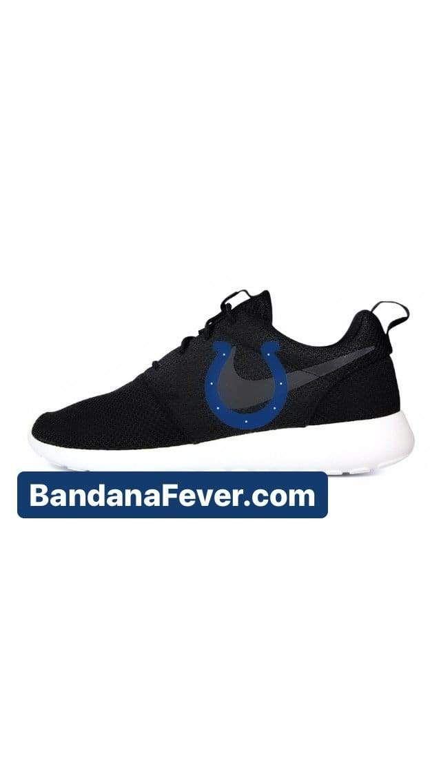 Indianapolis Colts Custom Nike Roshe One Shoes Black Bandana Fever Shoes Black Colts Football Indianapolis Colts Navy In 2020 Nike Roshe