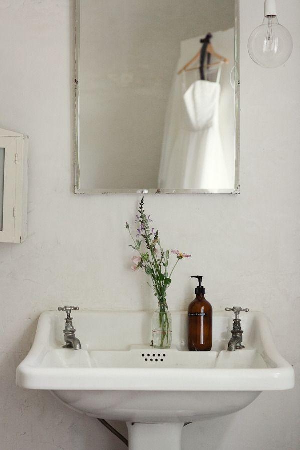 Vintage mirror bathroom
